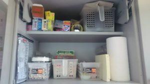 キッチン左上戸棚before