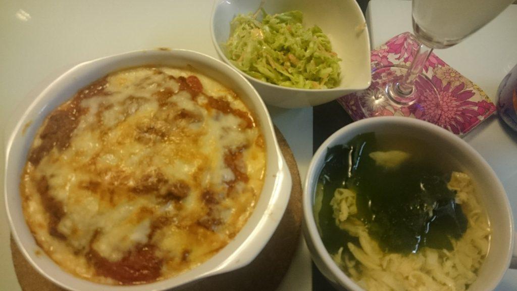 ミートドリア+コールスローサラダ