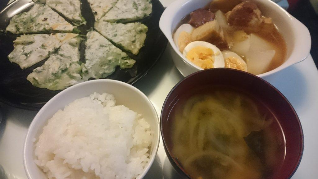 豚の角煮+チヂミ