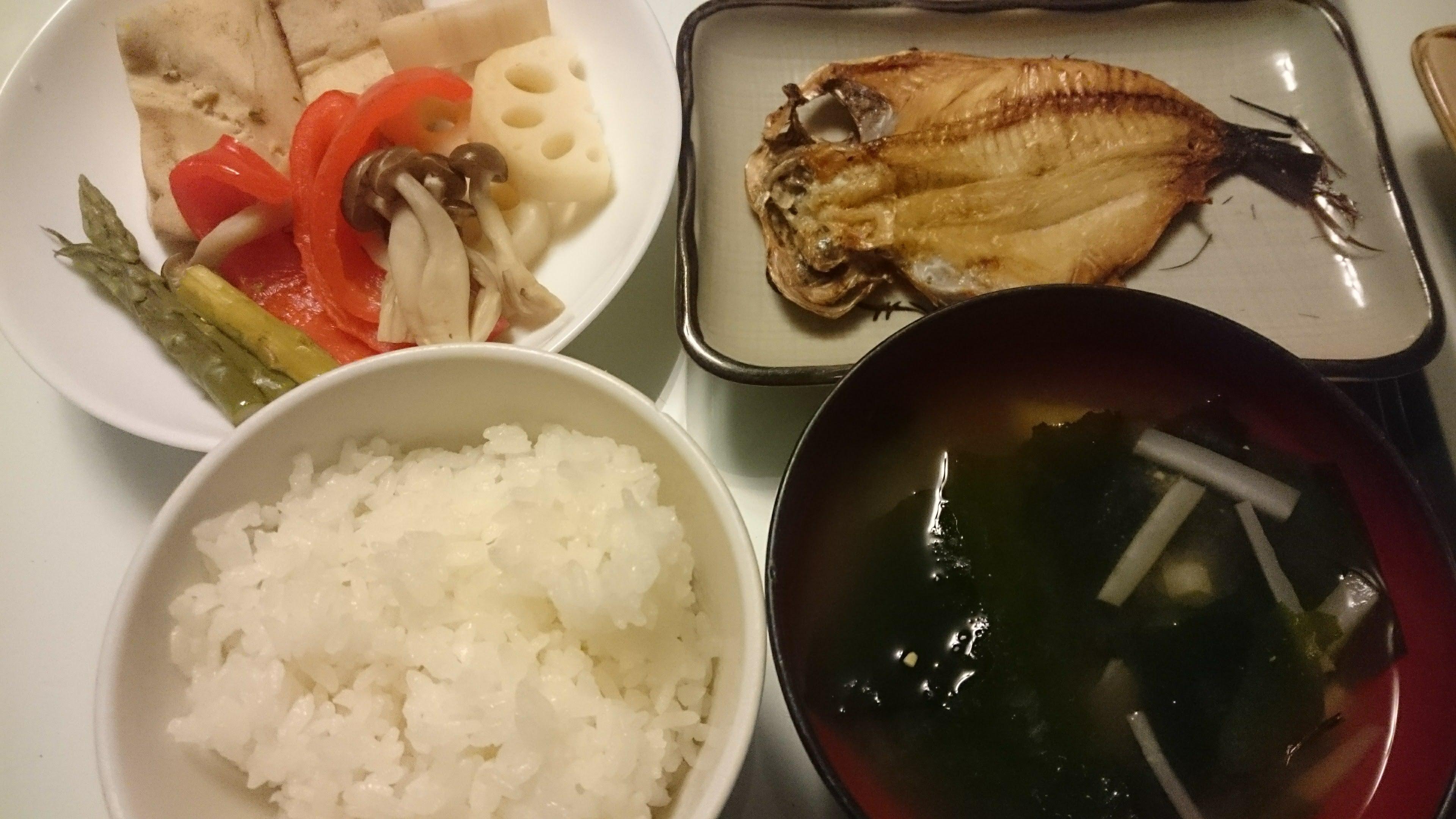 しずの開き+高野豆腐の煮物