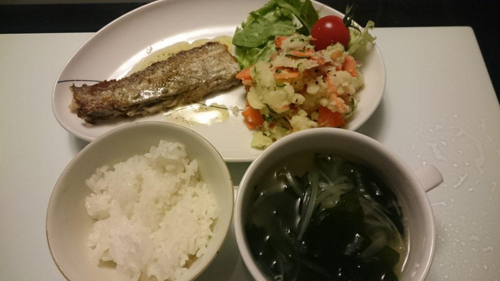 太刀魚のムニエル+ポテトサラダ