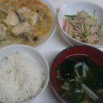 たらと白菜の中華あんかけ煮+春雨サラダ