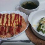 オムライス+ブロッコリーのチーズマヨ焼き