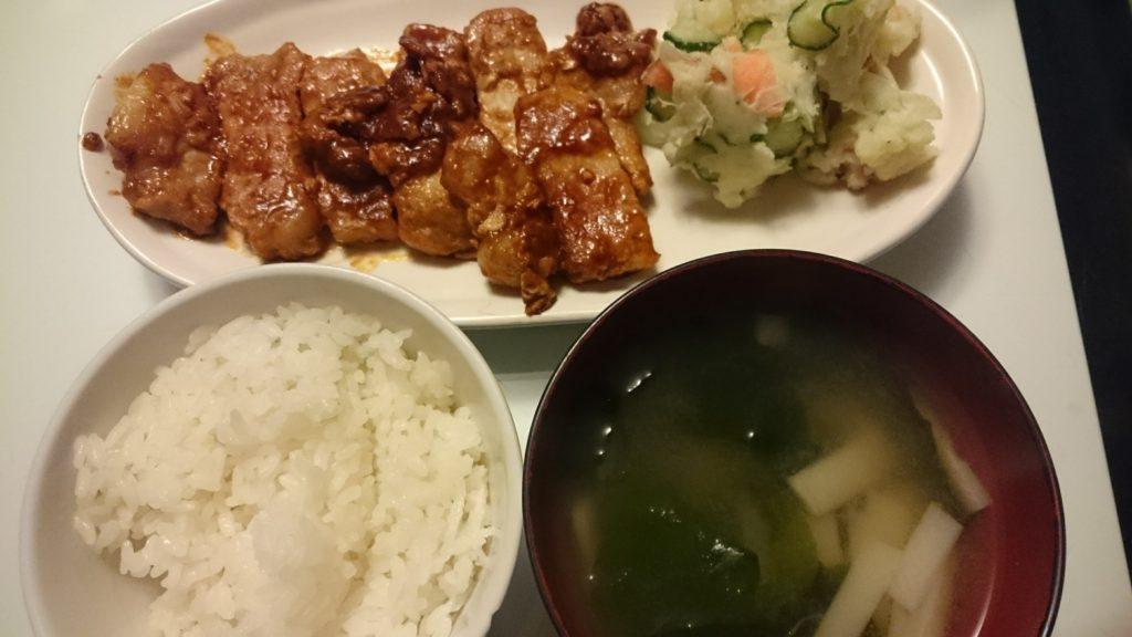 トンテキ+ポテトサラダ