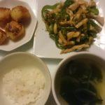 青椒肉絲+カリッとポテト
