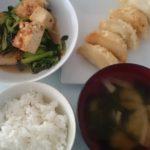 小松菜と厚揚げのピリ辛煮じゃがチーズ揚げ