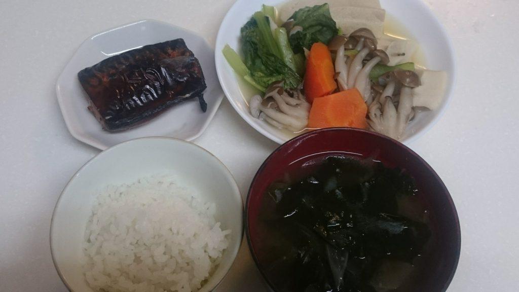 鯖の甘辛焼き+高野豆腐の煮物