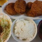 3種の揚げ物+梅ドレサラダ