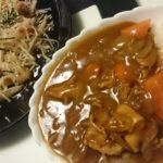 カレーライス+大根サラダ