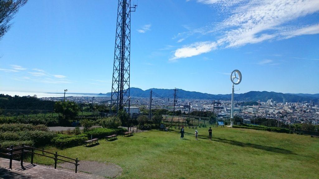 日本平動物園から駿河湾を望む