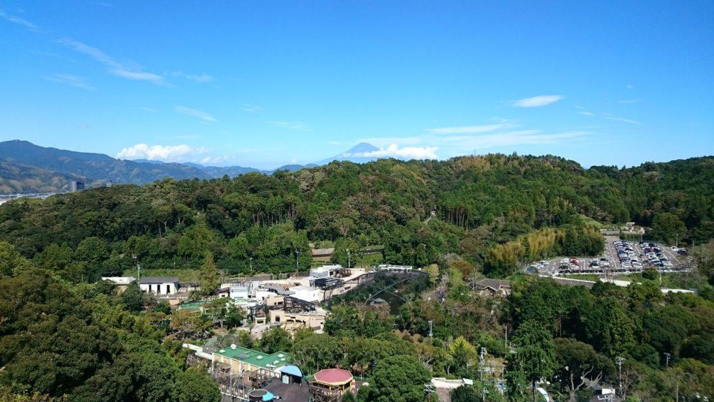 日本平動物園から富士山を望む