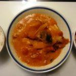 鶏もも肉とかぼちゃのトマト煮+イカとキャベツのマリネ
