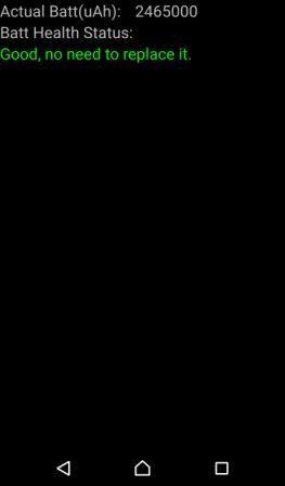 XPERIA Z3 バッテリー残量確認