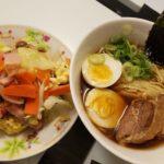 醤油ラーメン+野菜炒め