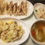 自家製角煮入りチャーハン+餃子