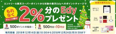 楽天ポイント→楽天edyキャンペーン