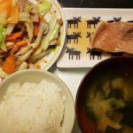 赤魚の煮付け+野菜炒め