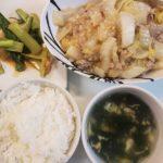 麻婆白菜+キムチと小松菜の炒め物