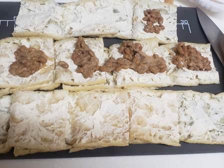 納豆キムチのチーズはさみ焼き