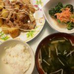 豚肉とじゃがいものオイマヨ照り焼き+ブロッコリーと人参のサラダ