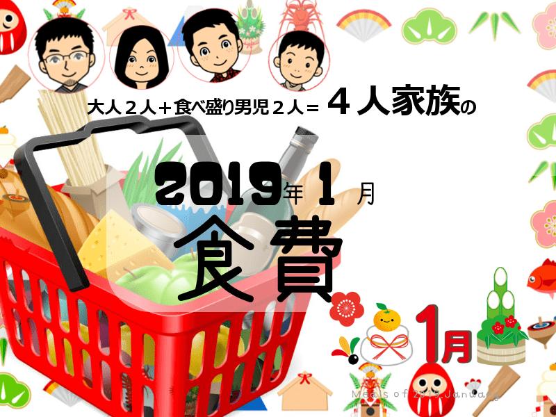 2019年1月食費