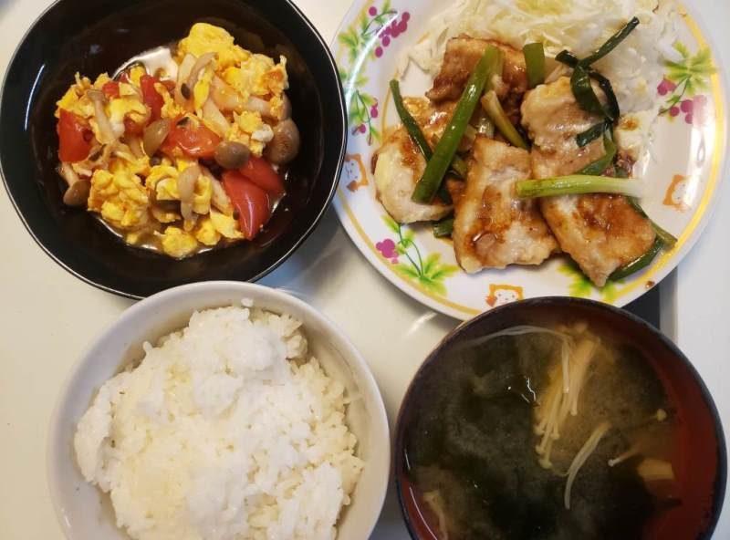【4人分502円/20分】メカジキのマヨ照り焼き+トマたま炒め